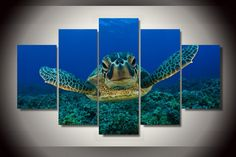 Own this amazing ocean sea turtle wall canvas today we will ship the canvas for free. This is the perfect centerpiece for your home. It is easy to assemble and hang the panels together which makes this a great gift for your loved ones.  This painting is printed not handpainted and is ready to hang! We have 1 options for this canvas -- Size 1: (20x35cmx2pcs, 20x45cmx2pcs, 20x55cmx1pc) Limited quantities left. www.octotreasures.com