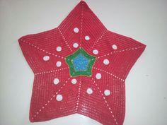 Doily, oilily crochet, red and white polka dots, diy, Oilily kleedje, rood met witte stippen, haken
