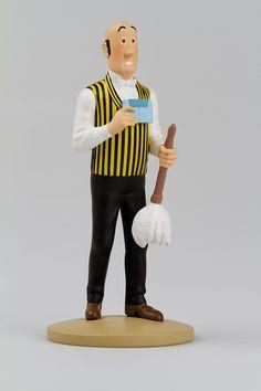 TINTIN FIGURINE NUMERO 31 COLLECTION disponible en France et en Belgique. Référence de la figurine : Nestor  Les Bijoux de la Castafiore, planche 26, case D2