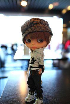 Adorable boy blythe doll