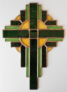 Stained Glass Cross by BoxesandBeyond