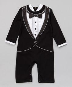 Loving this Black & White Tuxedo Playsuit on #zulily! #zulilyfinds