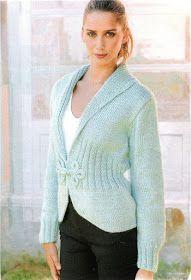 Delicadezas en crochet Gabriela: 38 Prendas tejidas paso a paso Pullover, Sweaters, Fashion, Knit Jacket, Knitting And Crocheting, Knit Wrap, Sweater Knitting Patterns, Sweaters Knitted, Sweater Vests