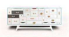 Mondrian Art Nouveau Limited Edition Sideboard
