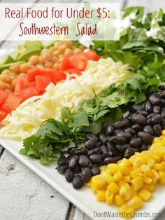 Recipe: Southwestern Salad | A delicious and healthy real food meal for less than $5 :: DontWastetheCrumbs.com
