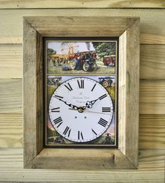 The Handmade Furniture Company Rustic Steam Showman Handmade Wooden Wall Clock, £19.99