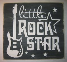 ON SALE Little Rock Star Childrens Bedroom by CottageSignShoppe