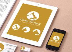 creative animal inspired logo design.  Animal Instinct