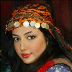 Iranian lady in Lovely Lorish traditional clothing and scarf - Lorish people wear these beautiful clothing at most times - IRAN  Iran has many different ethnic groups each with their own lovely costumes and traditions