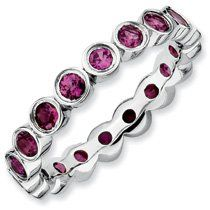 1.77ct Endearing Silver Stackable Rhod. Garnet Ring. Sizes 5-10 Available Jewelry Pot. $69.99. All Genuine Diamonds, Gemstones, Materials, and Precious Metals. 100% Satisfaction Guarantee. Questions? Call 866-923-4446. 30 Day Money Back Guarantee. Your item will be shipped the same or next weekday!. Fabulous Promotions and Discounts!. Save 61% Off!