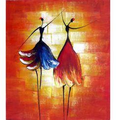 THESE PAINTINGS ARE ALL READY TO HANG. Woven In: Wall Art finished in USA History: Dance with Me is a hand finished canvas oil painting. Harmonious relationships of line and color bring this rich canv