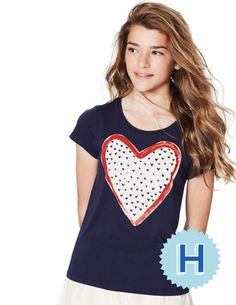 Scoop Neck Graphic T-shirt  #bodenbacktoschool