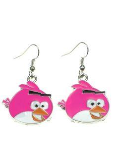 Angry Bird oorbellen (hanger) voor maar 2,25 per paar bij Deoorbel #oorbellen #kinderoorbellen