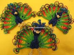 Peacocks | 24 Awesome Rainbow Loom Creations, #3 Is Simply Incredible | ViralVortex