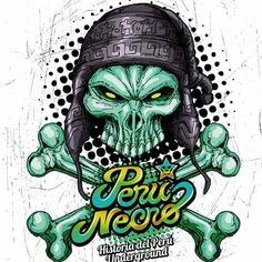 Perú Necro : Calavera Chola ilustración digital , serigrafía ,comic.