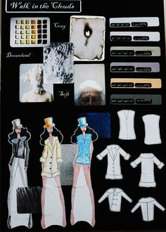[Walk in the Clouds]  Moodboard by IFA Paris Student in Bachelor Fashion Design