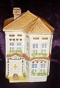 Vintage Avon Townhouse canister cookie jar