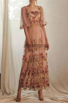 Square Neck Half Sleeve Embroidery Pullover Party/Cocktail Dress – maxi dress outfit summer,maxi dress summer,dress outfits party,dresses,maxi dress outfit casual,maxi dress summer beach,long maxi dress,maxi dress outfit #maxidressoutfitsummercasual #maxidresselegant #maxidressoutfitforwork #maxidress #maxidressoutfit #maxidresssummerwedding #maxidressesgorgeous #streetstyle #dresses #fashion #streetvova Beautiful Dresses, Nice Dresses, Dresses With Sleeves, Casual Dresses, Formal Dresses, Wedding Dress Sleeves, Cheap Dresses, Half Sleeves, Dresser