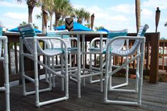 I've seen these PVC chairs and tables here in Destin, FL and want to make some for my house