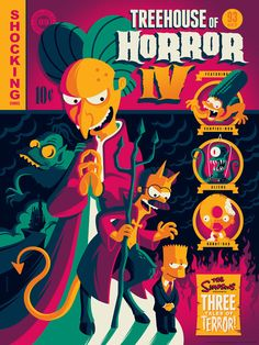 The Simpsons Treehouse of Horror IV Poster by Tom Whalen