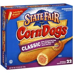 OH GOD I MISS THESE. State Fair Classic Corn Dogs, 3.6 lb