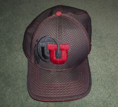 Men's Grey & Red THE UNIVERSITY OF UTAH Embroidered NCAA Hat, L/XL Stretch, GUC! #NEWERA39THIRTYOfficialNCAA #TheUniversityOfUtah