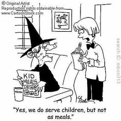 ✯ Witchy Humor Kids Meals ✯