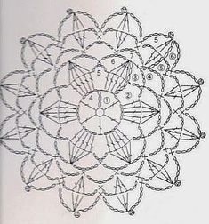 crochet chart for Crochet motif nr 7 ---- Anabelia craft design: Crochet doilies and lace motifs Crochet Doily Diagram, Crochet Flower Patterns, Crochet Chart, Crochet Squares, Thread Crochet, Crochet Doilies, Crochet Flowers, Crochet Lace, Crochet Stitches