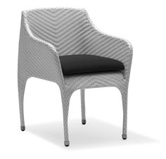 100Essentials Rivage Dining Armchair with Cushion, Charcoal. Frame structure : Sturdy, strong and light weight with good powder coating to protect it from corrosion. Waterproof and UV resistant, durable and can be exposed in all weather elements. Virtually maintenance free. For regular maintenance simply wash the product with soap and water. High density foam cushions with easily removable and washable cover. Zipper closure. Lead time : 8-12 weeks.