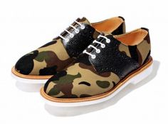 Bape x Mark McNairy Saddle Shoes,