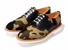 Bape x Mark McNairy Saddle Shoes,