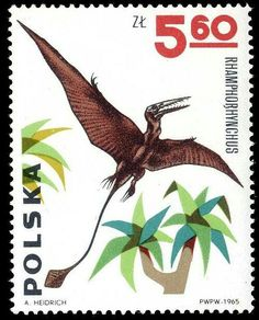 Brilliant pterodactyl by A. Heidrich outta Poland - 1965. Love that mix of uber-naturalist with Flintstone-y BG. Very cool.
