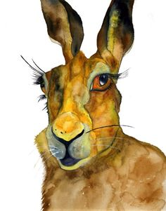 Unique Animal Artwork by HamJ on etsy. reminds me of watership down.