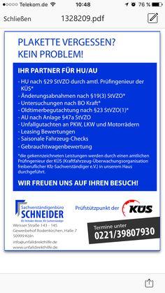 Werbeanzeige im Kölner Wochenspiegel, hier werben unsere Kfz Sachverständige unsere Leistungen am Prüfstützpunkt an.