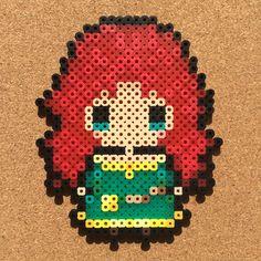 Merida (Brave) perler beads by tsubasa.yamashita fuse beads hama beads nabbi beads nano beads perler beads アイロンビーズ 拼豆 拼拼豆豆