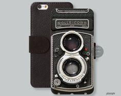 Rolleicord , vintage camera iPhone 6 case Leather Wallet iPhone 5s case, Card slot Wallet iPhone 6 plus case iPhone 5c case - C00029