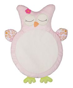 This Pink Owl Play Mat is perfect! #zulilyfinds