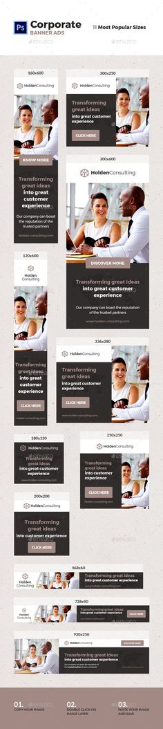 Corporate Ad Banners Template PSD