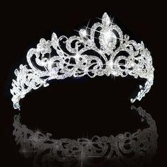 Crystal Bridal princesse Austrian Hair Tiara Mariage de la Couronne Bandeau Veil