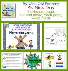 Christmas Around the World Blog Hop:  The Netherlands by Wise Owl Factory, freebies included