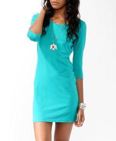Basic 3/4 Sleeve Dress/ good for bedtime. Looks really comfortable.