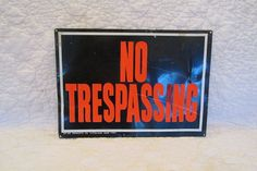 Vintage Sign Metal NO TRESPASSING SALE by rarefinds4u on Etsy