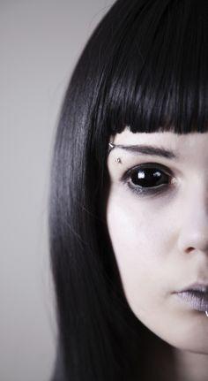c470424779da9 Black Sclera  (Samhain Contact Lenses)   Halloween   Pinterest