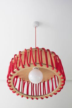 Buy online Macaron by Emko Uab, rope pendant lamp design Silivia Ceñal Antique Lamps, Vintage Lamps, Victorian Lamps, Modern Pendant Light, Pendant Lighting, Pendant Lamps, Chandelier, Luminaire Suspension Design, Diy Luz