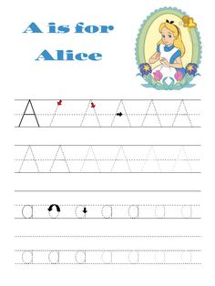 Disney alphabet practice, used specifically for my special education students. That way I could print it in color & make them excited. They only received the next character (alphabet letter) when they finished the one before it.