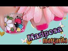 Diseño de uñas PIE margarita y mariposa/diseño de uñas en tonos rosa - YouTube Butterfly Nail Art, Cute Animal Photos, Manicure And Pedicure, Margarita, Lily, Youtube, Pretty Nails, Gorgeous Nails, Nice Nails