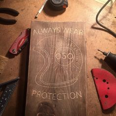 Working on a really cool new project!!!  'Always Wear Protection' [ nature is life ]  #woodcarving #woodwork #bearlife #bear #oso #motorcycle #caferacer de oso.mfg.co