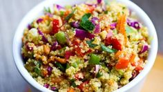 Coucous Confetti Salad (sub quinoa).
