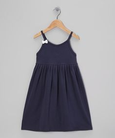 Another great find on #zulily! Midnight Pleated Pima Swing Dress - Toddler & Girls by Klever Kids #zulilyfinds