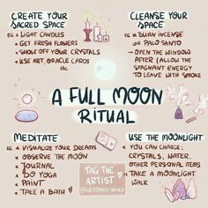 A full moon ritual meditation